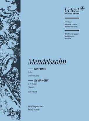 MENDELSSOHN - Symphonie n° 4, op. 90 - Partition - di-arezzo.fr
