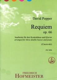 David Popper - Requiem - 3 Double Bass and Piano - Sheet Music - di-arezzo.com