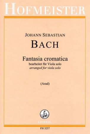 Johann Sebastian Bach - Fantaisie Chromatique - Alto seul - Partition - di-arezzo.fr