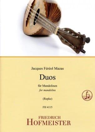 MAZAS - Duos pour Mandolines - Partition - di-arezzo.fr