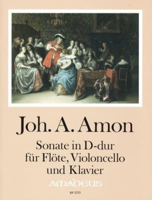 Johann Andreas Amon - Sonata in D Major - Flute, Cello and Piano - Sheet Music - di-arezzo.com