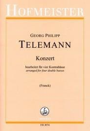 TELEMANN - Concerto - 4 Double Bass - Sheet Music - di-arezzo.com