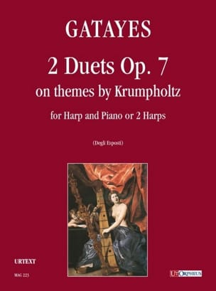 Guillaume Gatayes - 2 Duos Op. 7 - Harp and Piano - Sheet Music - di-arezzo.com