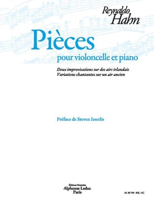 Reynaldo Hahn - Pieces - Cello and Piano - Sheet Music - di-arezzo.co.uk