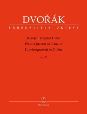 Quatuor pour Piano et Cordes op. 23 DVORAK Partition laflutedepan