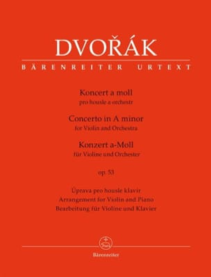 DVORAK - Violin Concerto Op. 53 - Violin and Piano - Sheet Music - di-arezzo.co.uk