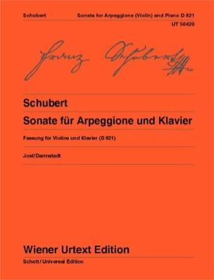 Franz Schubert - Sonate pour Arpeggione - Violon et Piano - Partition - di-arezzo.fr
