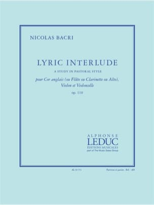 Lyric Interlude - Trio Cor Anglais, Violon et Violoncelle laflutedepan