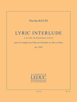 Nicolas Bacri - Lyric Interlude - Cor Anglais et Piano - Partition - di-arezzo.fr