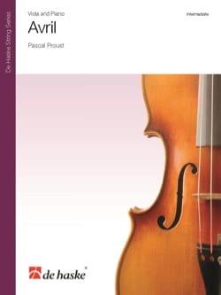 Pascal Proust - Avril - Alto et Piano - Partition - di-arezzo.fr