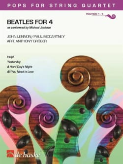 Beatles for 4 - Quatuor à Cordes Beatles Partition laflutedepan