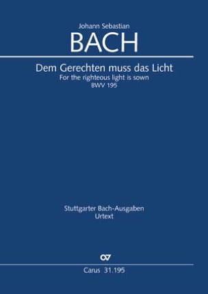 Cantate BWV 195 - Conducteur - BACH - Partition - laflutedepan.com