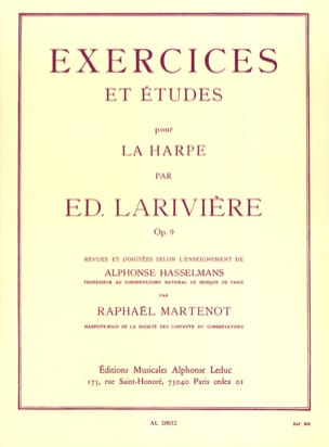 Ed. Larivière - Exercises and Studies op. 9 for harp - Sheet Music - di-arezzo.co.uk