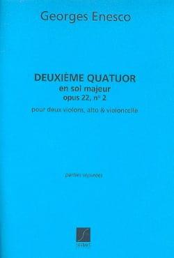 Georges Enesco - Quatuor à Cordes n° 2 - Parties séparées - Partition - di-arezzo.fr