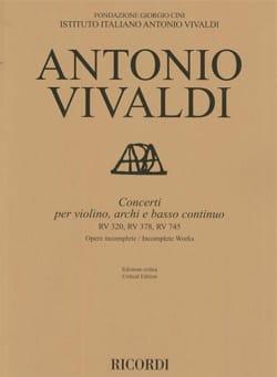 VIVALDI - Concerti - RV 320, 378, 745 - Sheet Music - di-arezzo.com