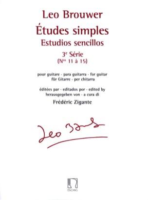 Etudes Simples - 3ème série - BROUWER - Partition - laflutedepan.com