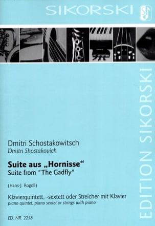 CHOSTAKOVITCH - Suite from The Gadfly - Sheet Music - di-arezzo.com