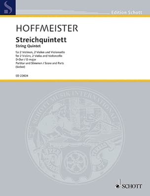 Franz Anton Hoffmeister - String Quintet in D Major - Sheet Music - di-arezzo.com
