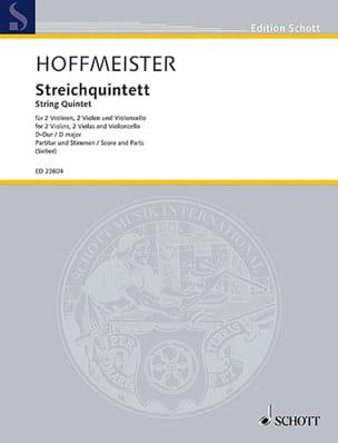 Quintette à Cordes en Ré Majeur Franz Anton Hoffmeister laflutedepan