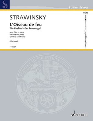 Igor Stravinsky - The Firebird - Flute and Piano - Sheet Music - di-arezzo.co.uk