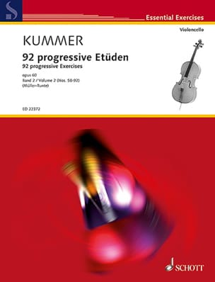 Friedrich August Kummer - 92 Progressive Studies, Volume 2 - Sheet Music - di-arezzo.co.uk
