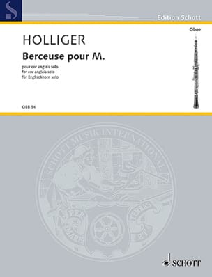 Heinz Holliger - Lullaby for Mr. - English Horn solo - Sheet Music - di-arezzo.com