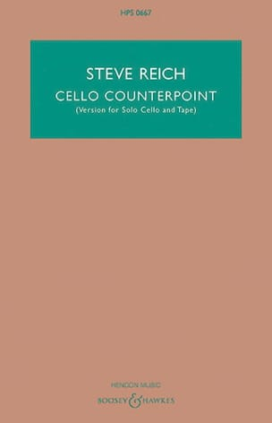 Steve Reich - Cello Counterpoint - Partition - di-arezzo.fr