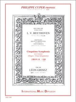 Symphonie n° 5 extraits - 2 Clarinettes - BEETHOVEN - laflutedepan.com