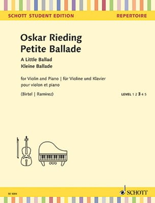 Oskar Rieding - Petite Ballade - Violin and Piano - Sheet Music - di-arezzo.co.uk