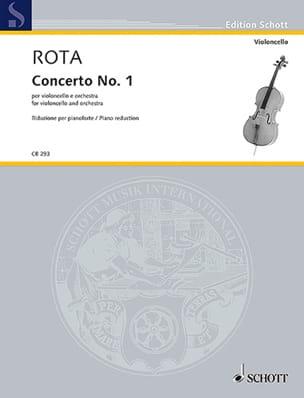 Concerto n° 1 - Violoncelle et Piano Nino Rota Partition laflutedepan