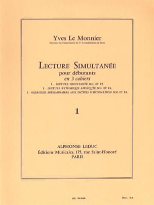 Monnier Yves Le - Simultaneous reading - Volume 1 - Sheet Music - di-arezzo.co.uk