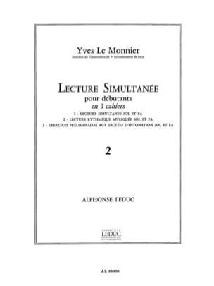 Lecture Simultanée - Volume 2 - Monnier Yves Le - laflutedepan.com
