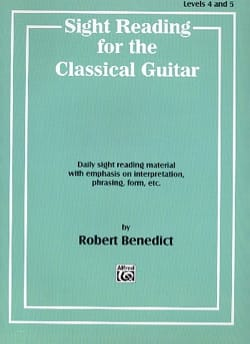 Benedict - Sight reading for the classical guitar - Sheet Music - di-arezzo.com