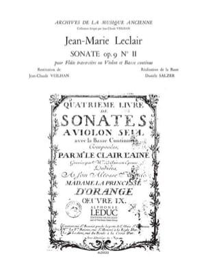 Jean-Marie Leclair - Sonata op. 9 n ° 2 - Flute or violin and bc - Sheet Music - di-arezzo.com