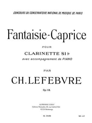 Charles Edouard Lefebvre - Fantaisie-Caprice op. 118 - Partition - di-arezzo.fr
