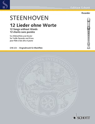 12 Chants sans Paroles - Karel Van Steenhoven - laflutedepan.com