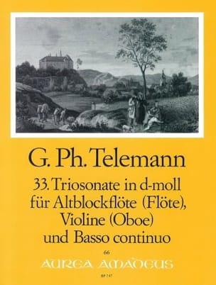 Georg Philipp Telemann - Trio en ré mineur - Partition - di-arezzo.fr