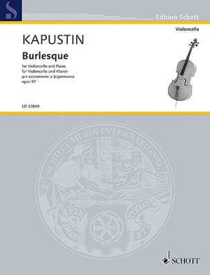 Burlesque - Violoncelle et Piano - Nikolai Kapustin - laflutedepan.com