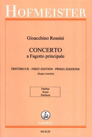 Gioacchino Rossini - Concerto pour basson - Partition - di-arezzo.fr