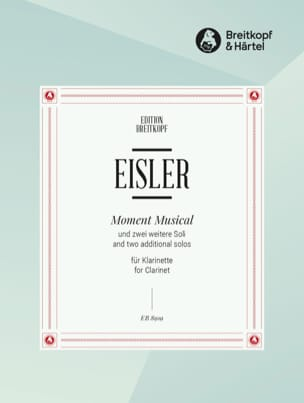 Moment Musical, 2 Solos - Clarinette Solo Hanns Eisler laflutedepan
