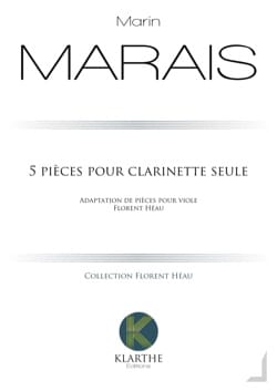 Marin Marais - 5 Pieces for Clarinet Only - Sheet Music - di-arezzo.co.uk