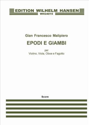 Epodi E Giambi Gian Francesco Malipiero Partition laflutedepan