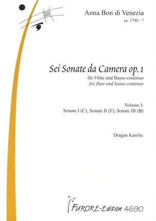 Anna di Venezia Bon - Sonatas for flute op.1 vol. 1 - Partition - di-arezzo.fr