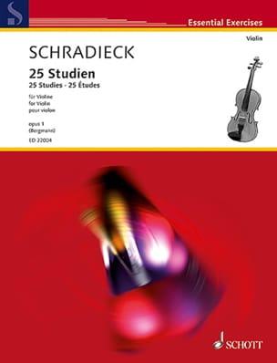 Henry Schradieck - 25 Studies, op. 1 - Violin - Sheet Music - di-arezzo.com