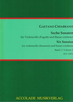 6 Sonaten Vol. 1 Gaetano Chiabrano Partition Basson - laflutedepan