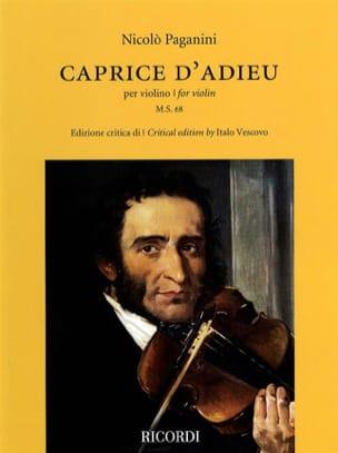 Niccolò Paganini - Caprice d'Adieu - Violon - Partition - di-arezzo.fr