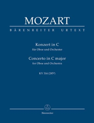 MOZART - Oboenkonzert C-Dur KV 314 - Partitur - Sheet Music - di-arezzo.co.uk