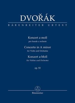 Antonin Dvorak - Concerto pour Violon, op. 53 - Conducteur - Partition - di-arezzo.fr