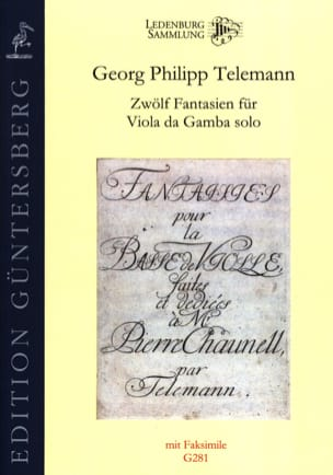 TELEMANN - Twelve Fantasias for Viola da Solo Gamba TWV 40: 26-37 - Sheet Music - di-arezzo.com