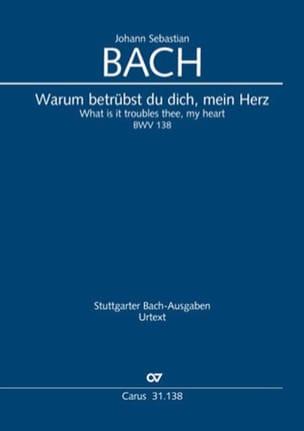 BACH - Cantate BWV 138 - Conducteur - Partition - di-arezzo.fr